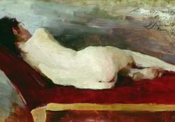 Лежащая натурщица