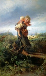 Дети бегущие от грозы