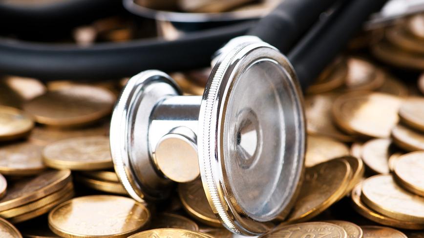 Стетоскоп на монетах