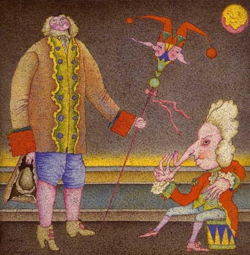 Молодий Петро I і карлик. Михайло Шемякін