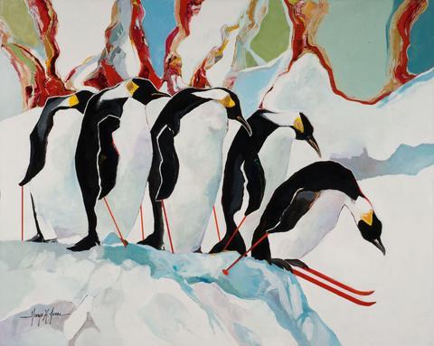 Penguins Downhill